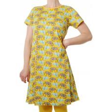 DUNS Sweden elefánt mintás ruha sárga színben (felnőtt méret)