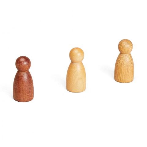 Grapat 3 db NINS® bábu 3 különböző fából
