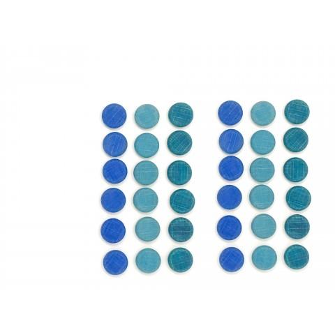 Grapat mandala szett - kis kék érmék