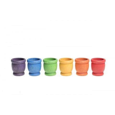 Grapat 6 db-os, színes csészék