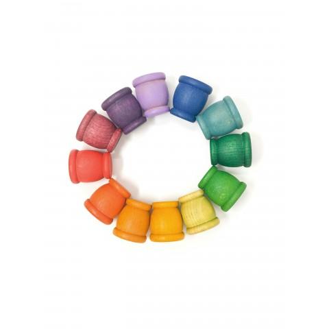 Grapat 12 db-os, színes csészék