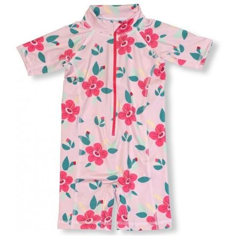 JNY colourful kids Hibiscus - hibiszkusz mintás UV szűrős ruha
