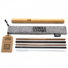 Jungle Straws 4 db-os fém szívószál szett