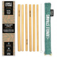 """Jungle Straws 6 db-os bambusz szívószál szett, """"Marine"""""""
