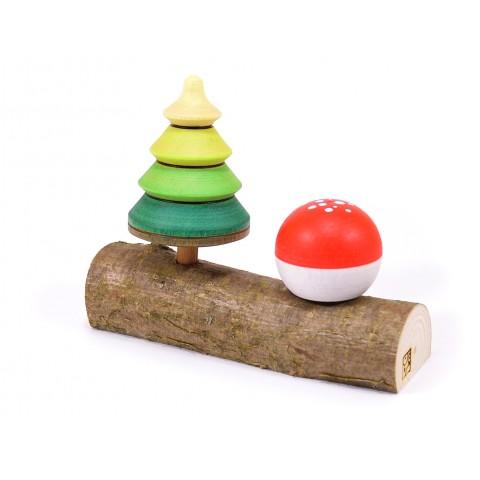 Mader Tree Top + Toadstool pörgettyű fatörzsön, dobozban
