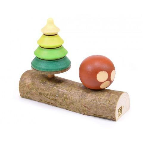 Mader Tree Top + Porcini pörgettyű fatörzsön, dobozban