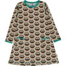 Maxomorra Owl ls dress - baglyos ruha
