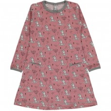 Maxomorra Sweet Bunny ls dress - nyuszis ruha