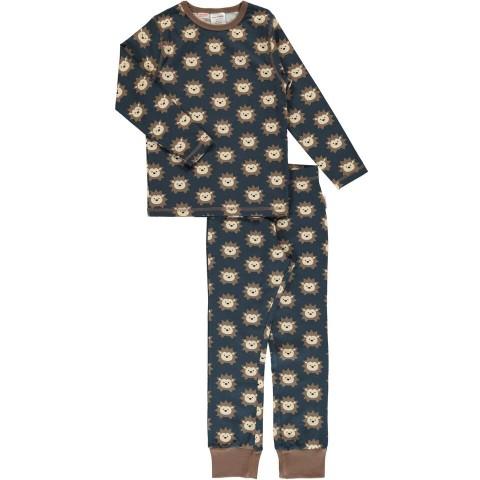 Maxomorra Hedgehog ls pyjama set - sünis pizsama