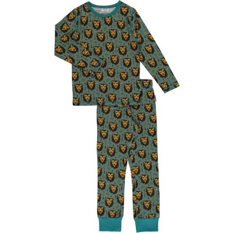 Maxomorra Lion Jungle ls pyjama set - oroszlános pizsama