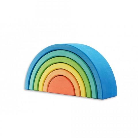 """Ocamora """" Azul Encajable de 6 arcos """" 6 db-os kék szivárvány építő"""