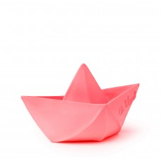 Origami hajó gumi játék, rágóka - rózsaszín