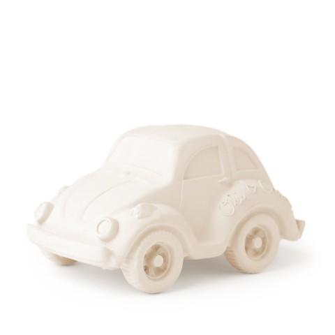 Autó gumi játék, rágóka - fehér