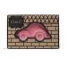 Autó gumi játék, rágóka - rózsaszín