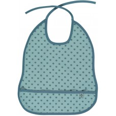 Småfolk zsebes előke alma mintával - kék