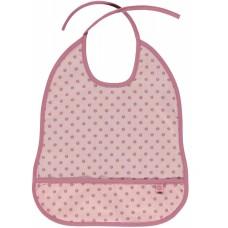 Småfolk zsebes előke alma mintával - rózsaszín