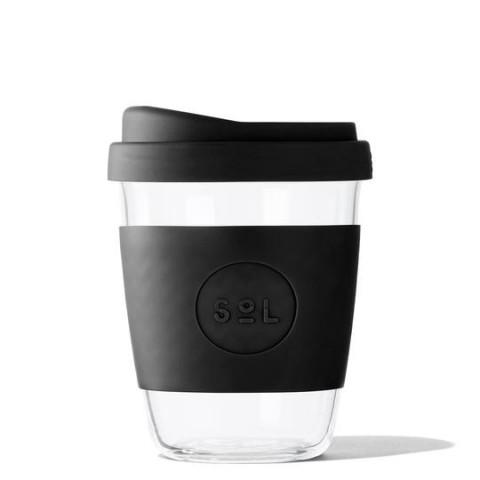"""SoL közepes méretű üveg pohár """"Basalt black"""""""