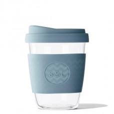 """SoL közepes méretű üveg pohár """"Blue stone"""""""