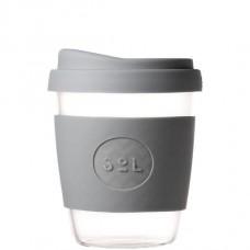 """SoL közepes méretű üveg pohár """"Cool grey"""""""