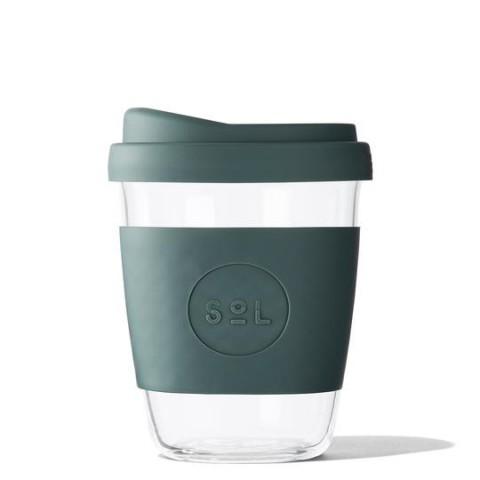 """SoL közepes méretű üveg pohár """"Deep sea green"""""""