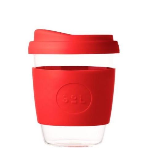 """SoL közepes méretű üveg pohár """"Rocket red"""""""