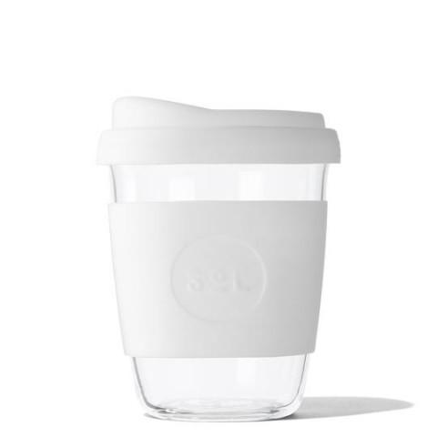 """SoL közepes méretű üveg pohár """"White wave"""""""