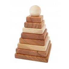 WOODEN STORY natúr piramis építő